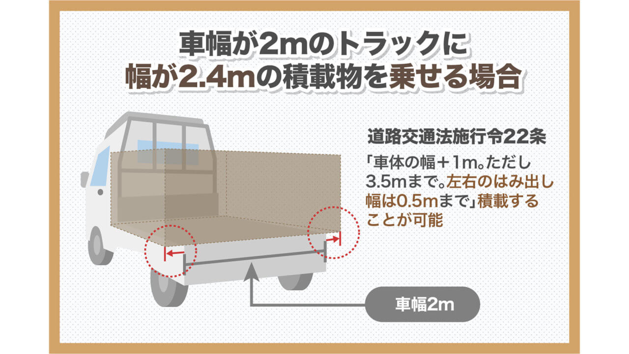 トラックの積載はどこまではみ出してOK?