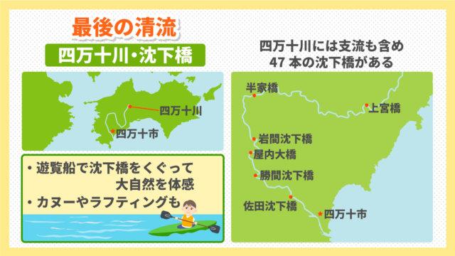 四国の観光スポット:四万十川